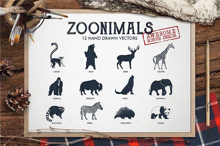 ZOONIMALS. Hand Drawn Animals