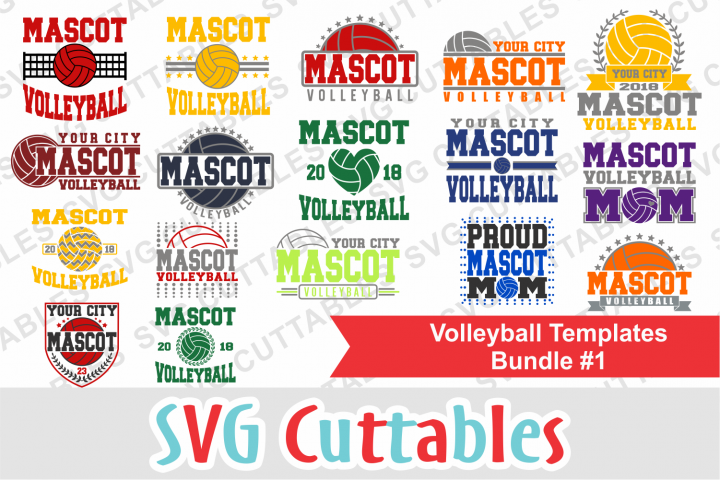 Volleyball Template Bundle 1 | SVG Cut Files