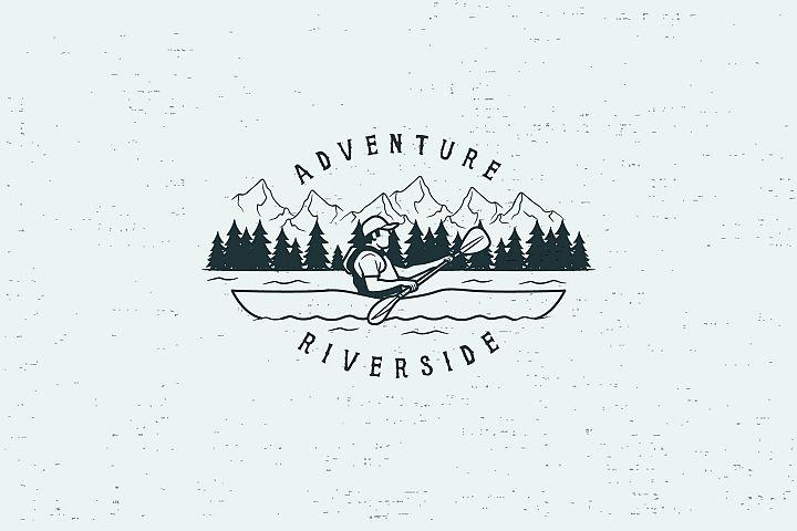 ADVENTURE RIVERSIDE - LOGO TEMPLATE