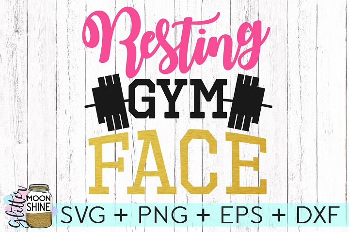 Resting Gym Face SVG DXF PNG EPS Cutting Files