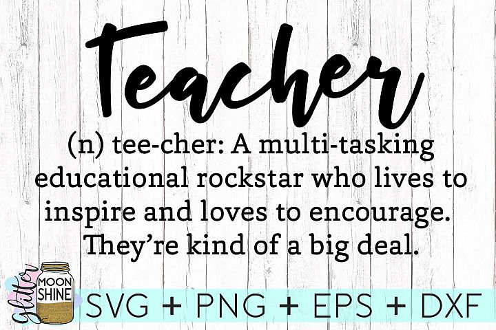 Teacher Definition SVG DXF PNG EPS Cutting Files