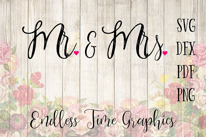 Mr and Mrs SVG Cut File. Mr and Mrs DFX. Wedding Cut File. Wedding Digital Download. Digital Decal. Wedding DXF. Digital Wedding Invitation