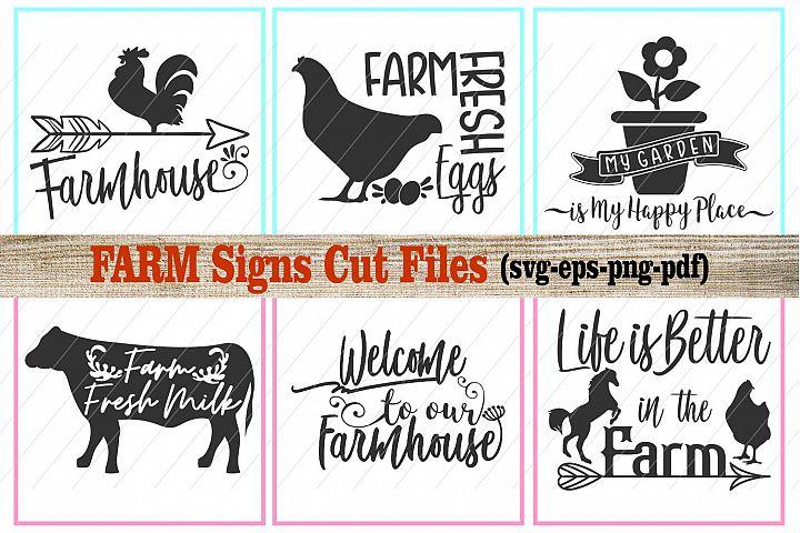 farm svg, farmhouse svg, farm signs, cut files