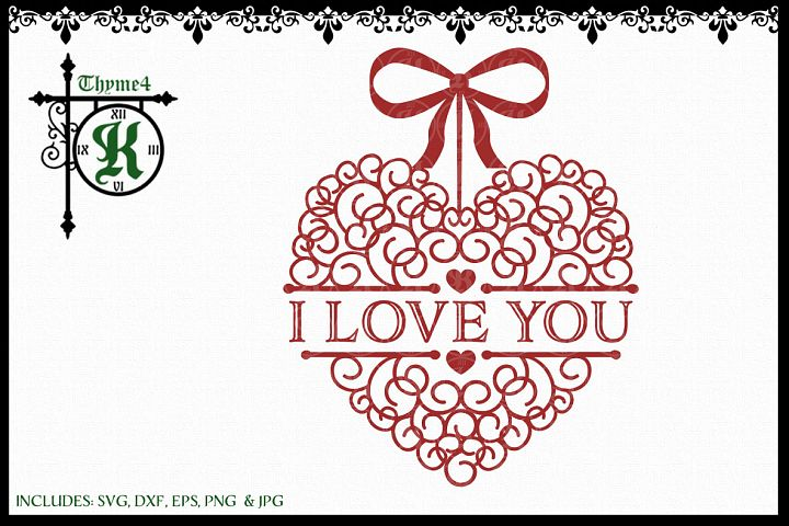 I Love You Swirl Heart