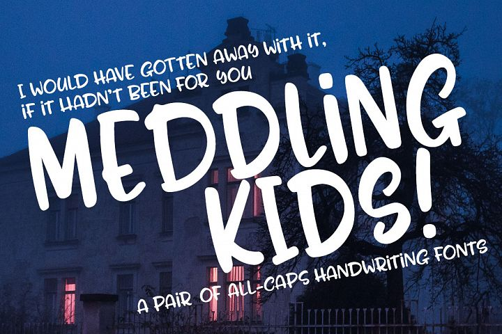 Meddling Kids - handwriting font