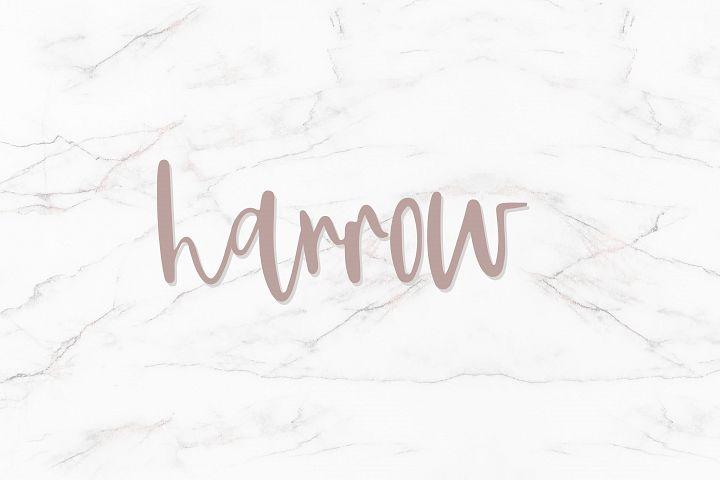 Harrow - Script Font