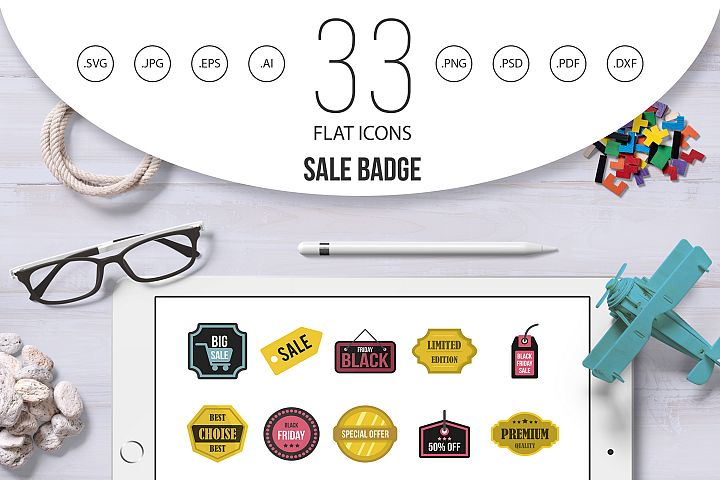 Sale badge icon set