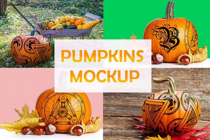 Pumpkins mockups