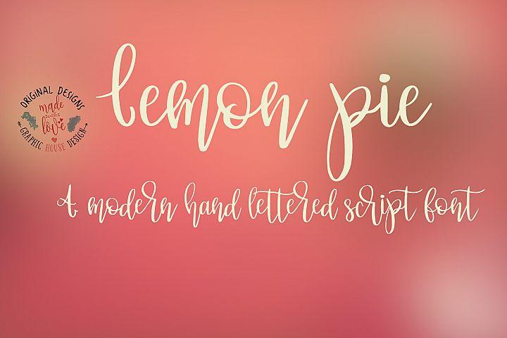 Lemon Pie Modern Hand Lettered Script Font
