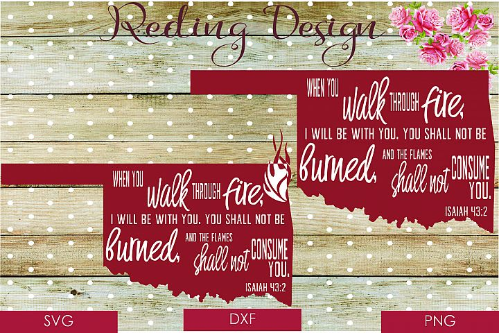 Walk Through Fire Oklahoma SVG DXF PNG Digital Cut Files