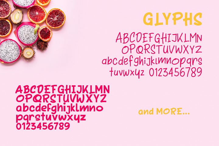Tooty Fruity - Font Duo - Free Font of The Week Design 1