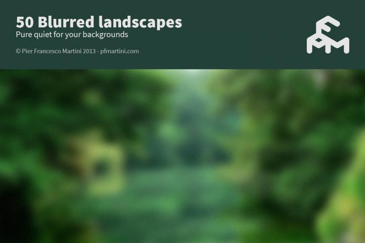50 Blurred landscapes