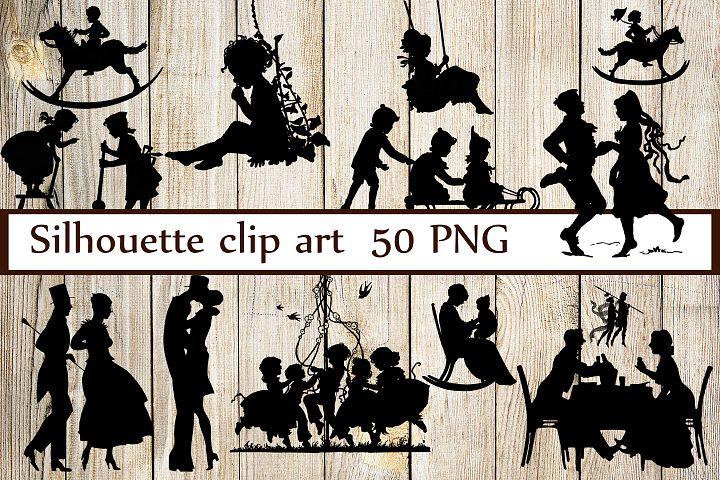 Vintage Silhouettes Clipart