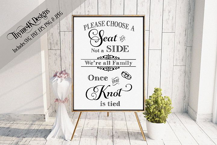 PLEASE CHOOSE A SEAT.... DIGITAL DESIGN- WEDDING
