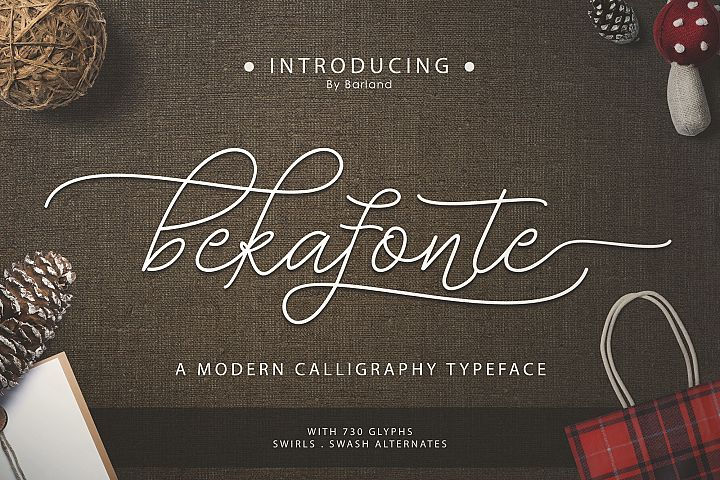 Bekafonte Typeface - New Update