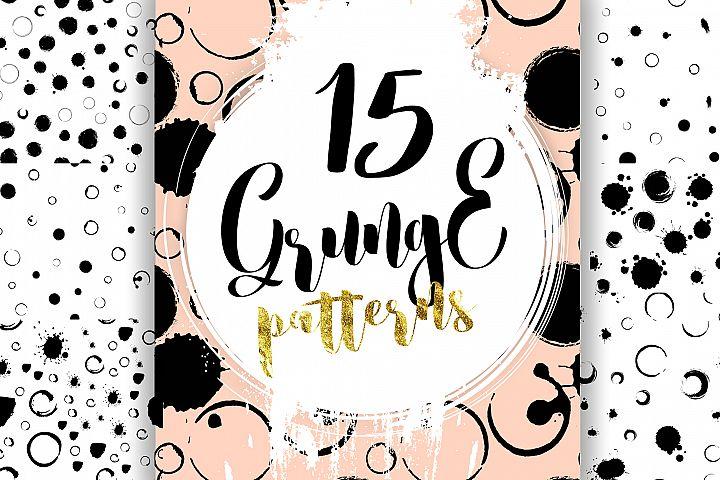 15 Grunge patterns