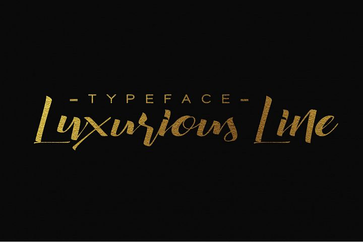 Luxurious Line Typeface