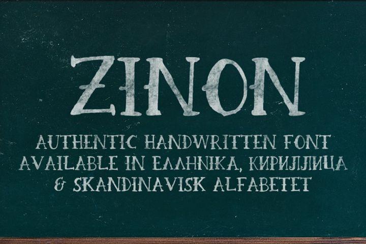 Zinon Handwritten Font