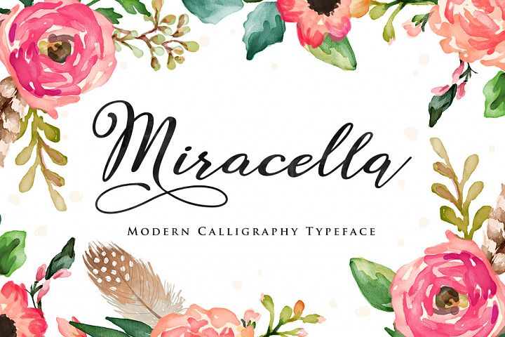 Miracella Script (Intro 30% off) - Free Font of The Week