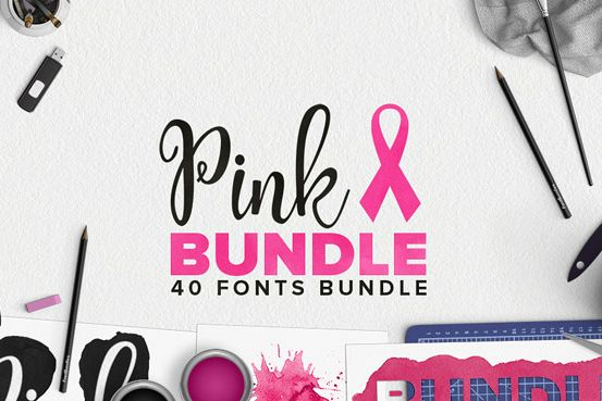 Pink Fonts Bundle