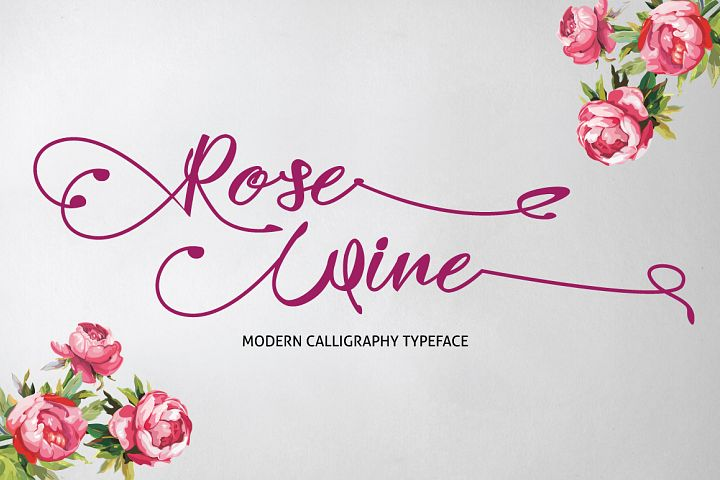 Rose Wine Typeface