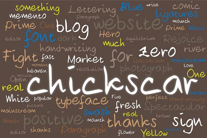Chickscar Typeface