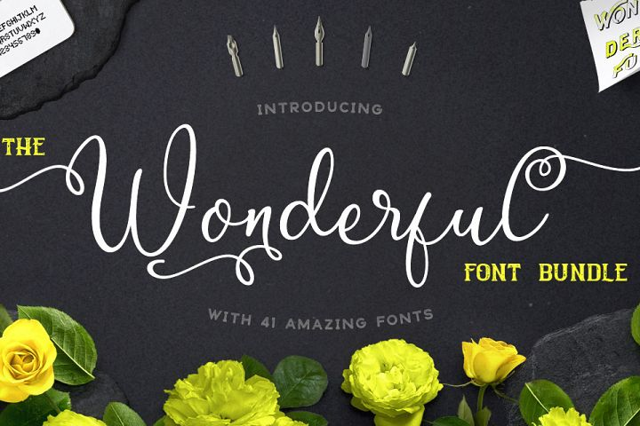 The Wonderful Font Bundle