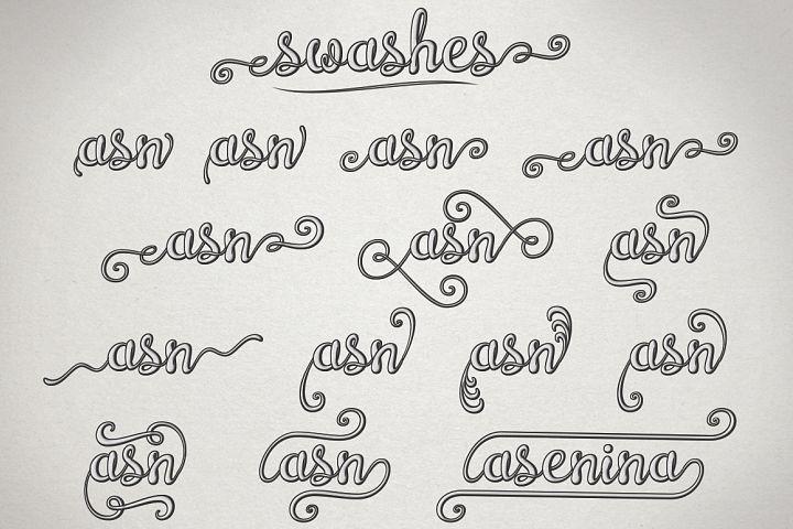 Brazilian Script (LAYERED FONT) - Free Font of The Week Design 4