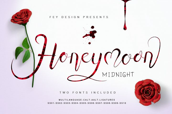 Honey Moon Midnight Two Fonts