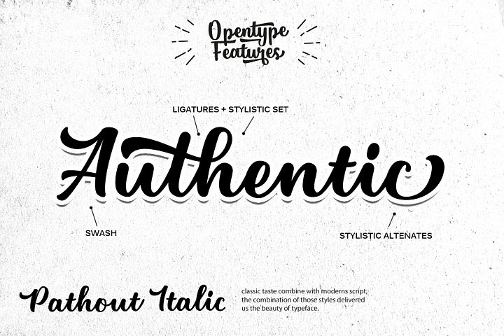 Pathout Script - Free Font of The Week Design 3