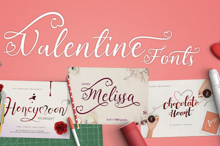 Valentines Fonts Pack