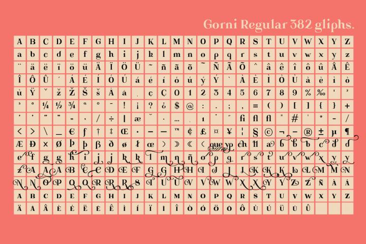 Gorni Typeface - Free Font of The Week Design 5