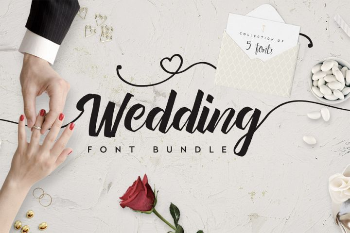 Wedding Fonts Bundle