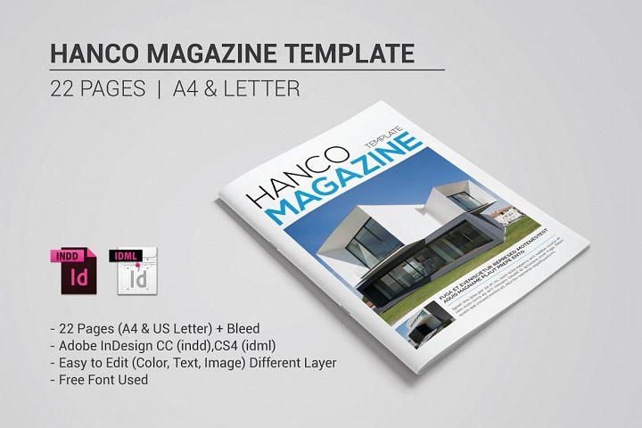Hanco Magazine Template