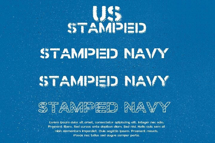 Stamped Navy Font