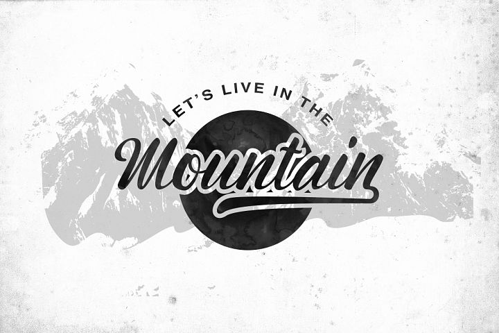 Montagne Typeface - Free Font of The Week Design 1